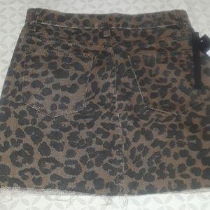 fc39f9d0cda6 momokrom Skirts | Leopard Print Mini Skirt | Poshmark